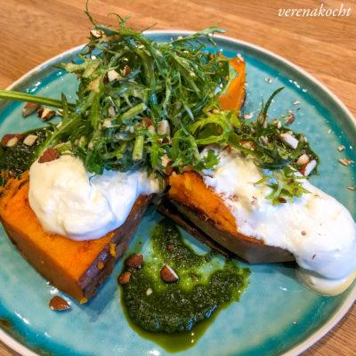 Hayas Süßkartoffeln mit Schmand & Salat (und) Balagan via SocialMedia