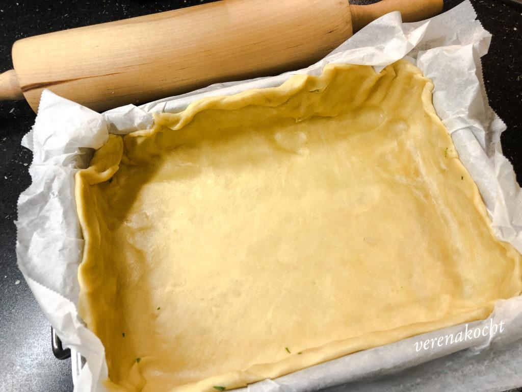 Weißkraut Käse Quiche