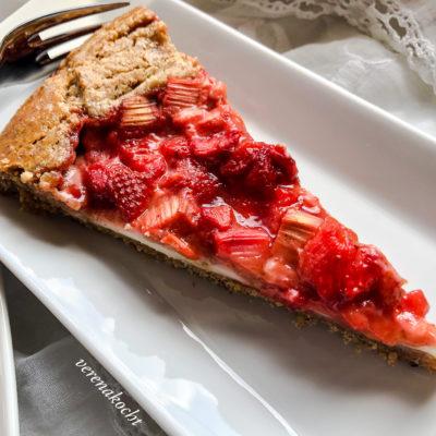 Erdbeer Rhabarber Kuchen (und) Schönen Muttertag!