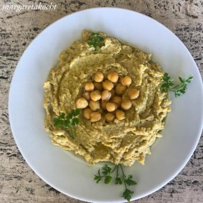 home-made Hummus (und) falsche Wetterprognosen
