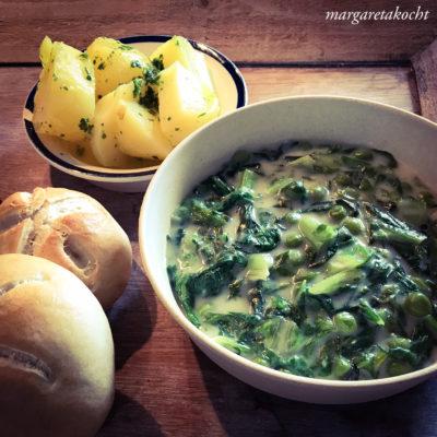 köstlicher Kochsalat mit Erbsen (oder) Oma – Sommer – Essen