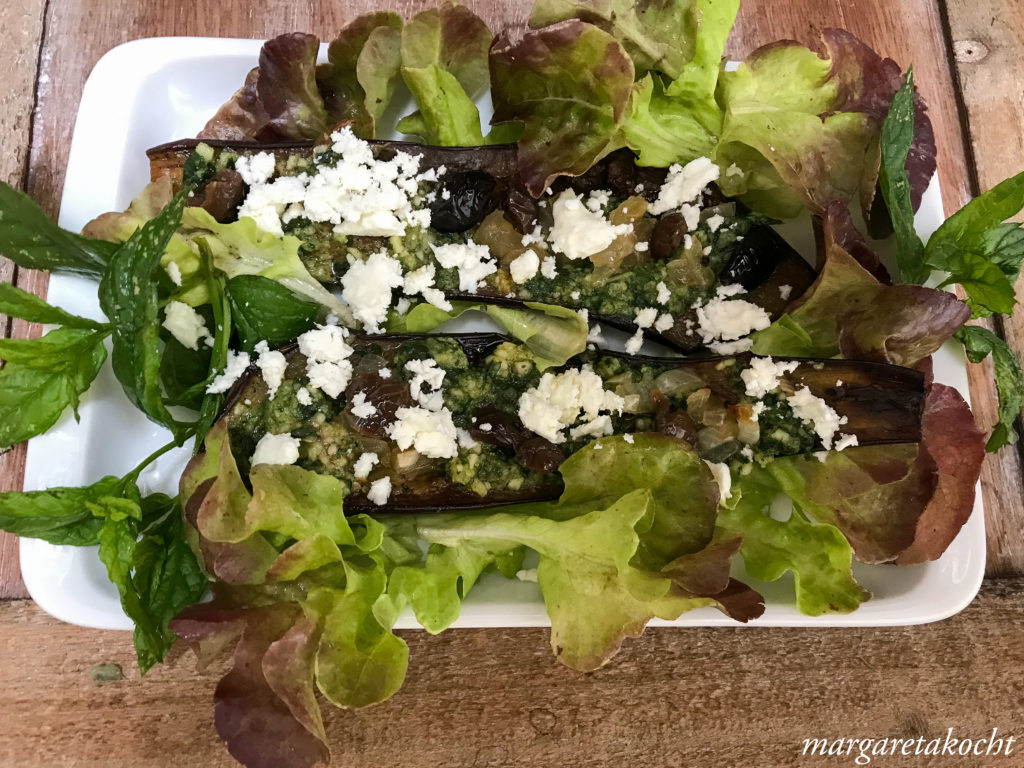 g'sunder Auberginen Salat