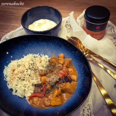 Kokos Auberginen Curry (und) Wir eröffnen die Curry Saison!
