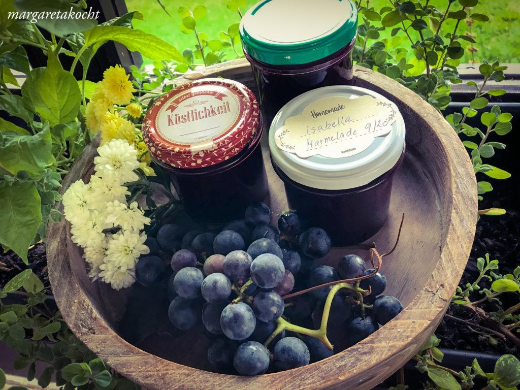 Marmelade von der Isabella Traube