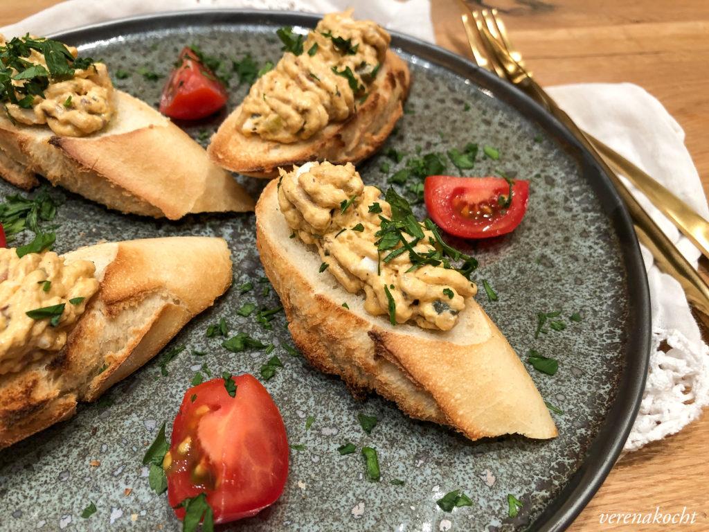 Crostini mit Makrelen Ei Aufstrich
