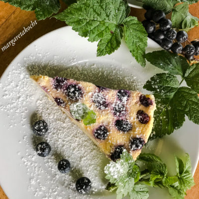 köstlicher Heidelbeer Cheesecake (und) Die Wiedergeburt des Sonntagskuchens