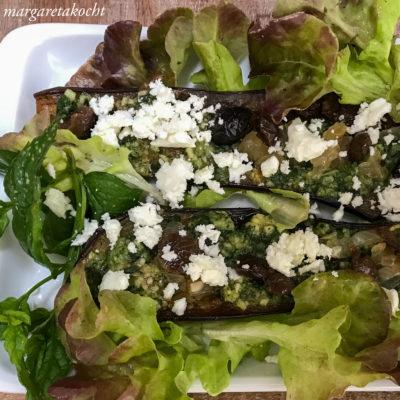 g'sunder Auberginen Salat (und) gesund in die neue Woche!
