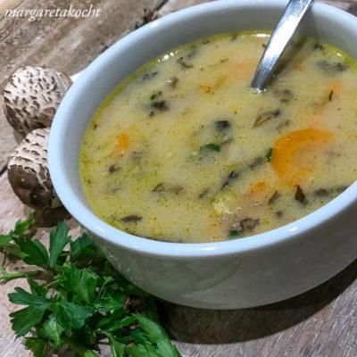 cremige Suppe vom Parasol (und) Schlemmen wir uns durch die Feiertage?!