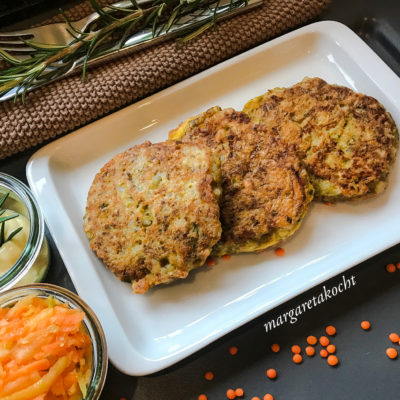rote Linsen Laibchen mit Reis (und) #meatless #weekend