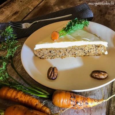 Karotten Pekan Nuss Kuchen (und) Ostern steht vor der Tür
