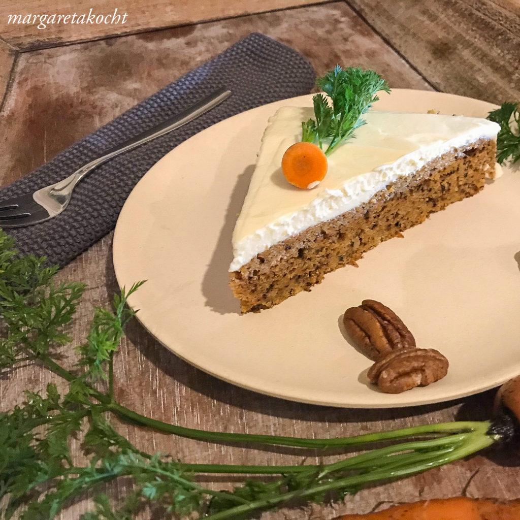 Karotten Pekan Nuss Kuchen
