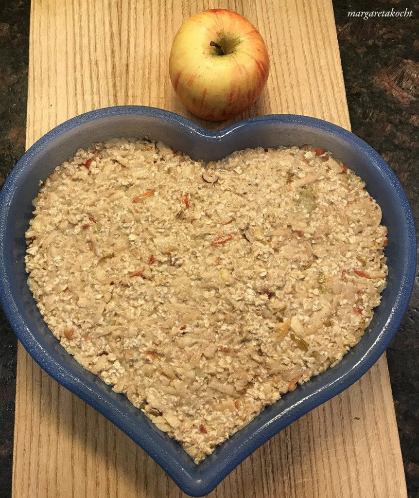 gebackener Apfel Porridge