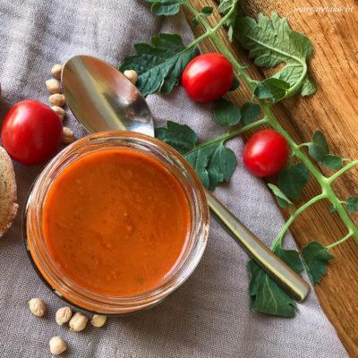 orientalische Tomaten Suppe mit Kichererbsen (und) Es wird kalt und immer kälter!